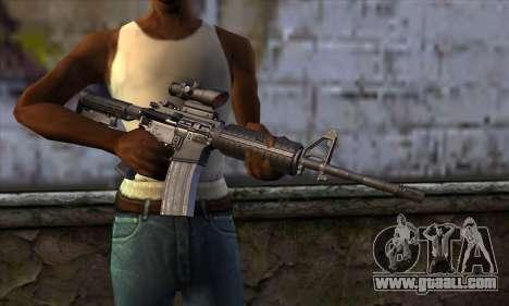 M4 Carbine ACOG for GTA San Andreas third screenshot
