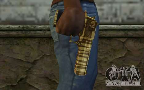 Desert Eagle Gold v1 for GTA San Andreas third screenshot