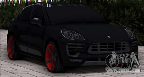 Porsche Macan Vossen for GTA San Andreas back left view