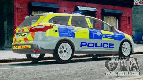 Met Police Ford Focus Estate IRV ELS 8 2013 for GTA 4 left view