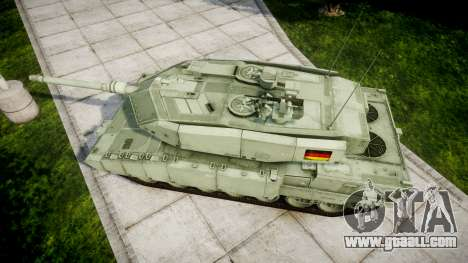 Leopard 2A7 DE Green for GTA 4 right view