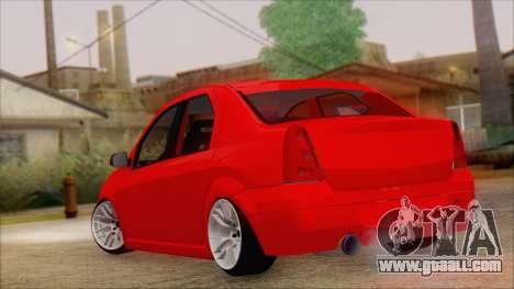 Dacia Logan for GTA San Andreas left view
