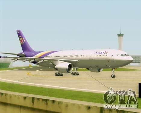 Airbus A300-600 Thai Airways International for GTA San Andreas upper view