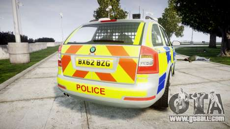 Skoda Octavia vRS Comb Metropolitan Police [ELS] for GTA 4 back left view