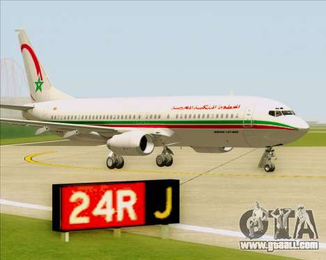 Boeing 737-8B6 Royal Air Maroc (RAM) for GTA San Andreas side view