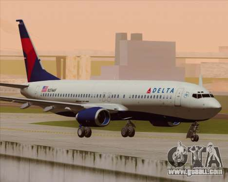 Boeing 737-800 Delta Airlines for GTA San Andreas back view