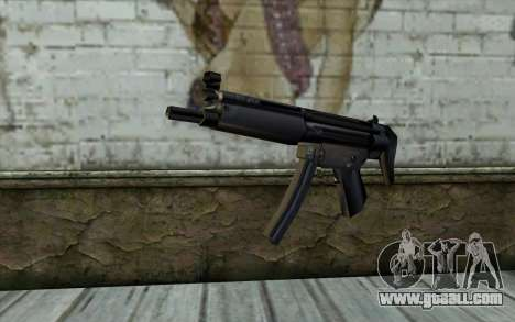 Retextured MP5 for GTA San Andreas