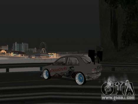 Mitsubishi Lancer Evo 9 VCDT for GTA San Andreas inner view