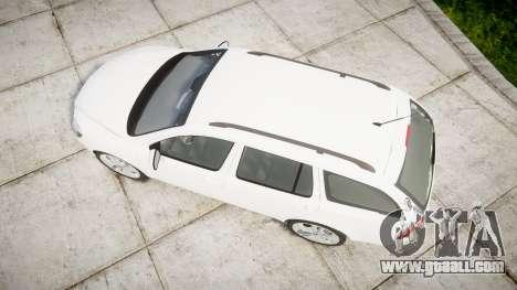 Skoda Octavia vRS Combi Unmarked Police [ELS] for GTA 4 right view