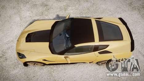 Chevrolet Corvette Z06 2015 TireMi5 for GTA 4 right view