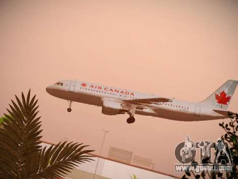Airbus A320-214 Air Canada for GTA San Andreas side view