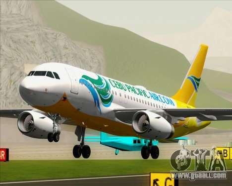 Airbus A319-100 Cebu Pacific Air for GTA San Andreas