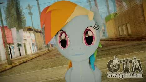 Rainbow Dash from My Little Pony for GTA San Andreas third screenshot