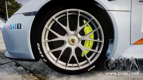 Porsche 918 Spyder 2014 Weissach for GTA 4 back view