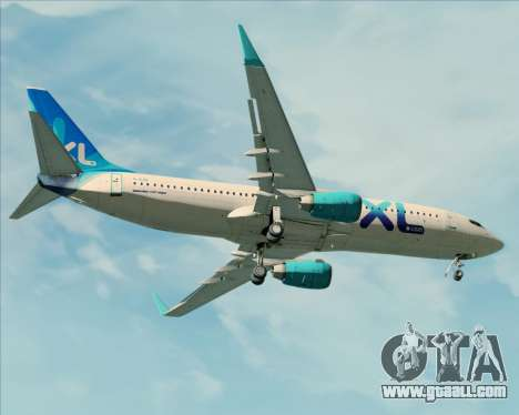 Boeing 737-800 XL Airways for GTA San Andreas bottom view