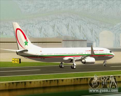 Boeing 737-8B6 Royal Air Maroc (RAM) for GTA San Andreas inner view