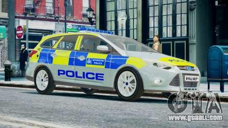 Met Police Ford Focus Estate IRV ELS 8 2013 for GTA 4