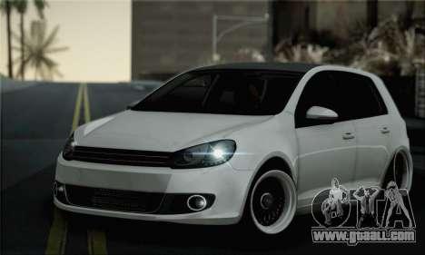 Volkswagen Golf R for GTA San Andreas