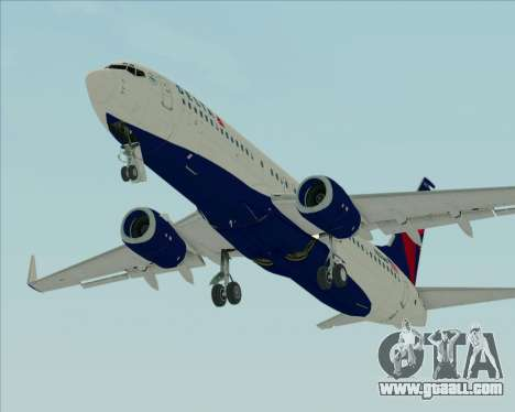 Boeing 737-800 Delta Airlines for GTA San Andreas inner view