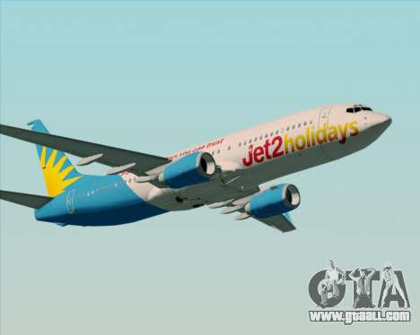 Boeing 737-800 Jet2Holidays for GTA San Andreas right view