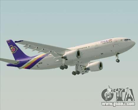 Airbus A300-600 Thai Airways International for GTA San Andreas left view