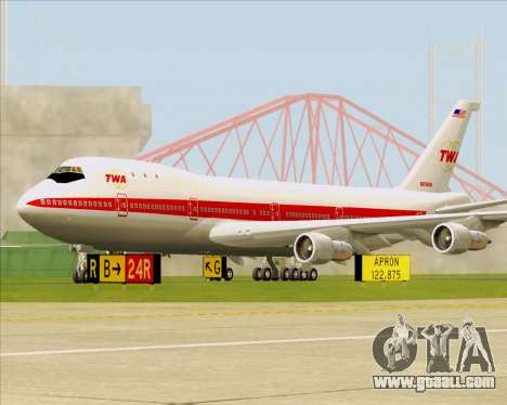 Boeing 747-100 Trans World Airlines (TWA) for GTA San Andreas left view