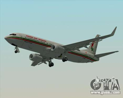 Boeing 737-8B6 Royal Air Maroc (RAM) for GTA San Andreas upper view
