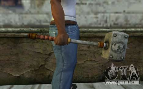 Shao Kahn Hammer From Mortal Kombat 9 for GTA San Andreas third screenshot