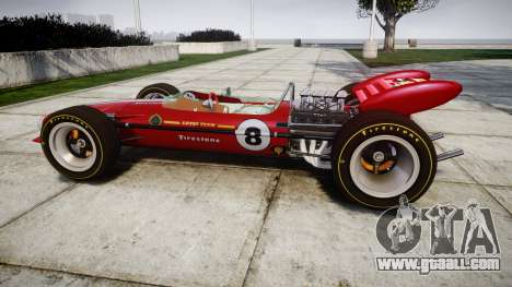 Lotus 49 1967 red for GTA 4 left view