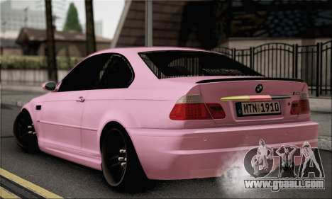 BMW M3 E46 StanceWork for GTA San Andreas left view