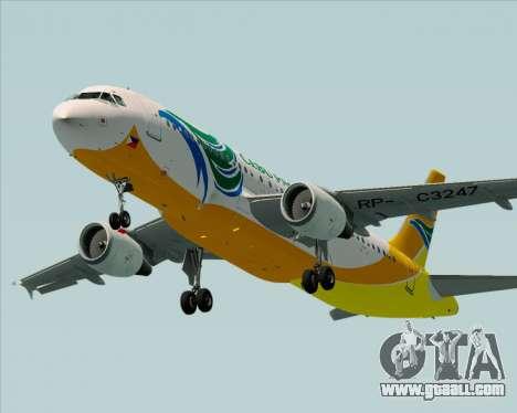 Airbus A320-200 Cebu Pacific Air for GTA San Andreas engine