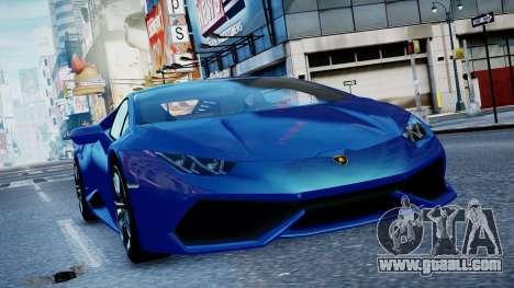 Lamborghini Huracan LP610-4 from Horizon 2 for GTA 4 left view