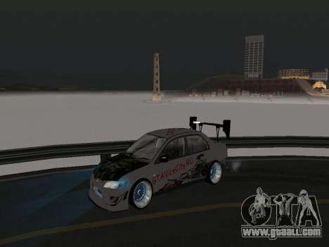 Mitsubishi Lancer Evo 9 VCDT for GTA San Andreas side view