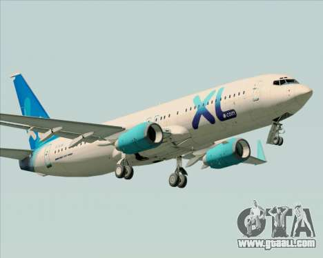 Boeing 737-800 XL Airways for GTA San Andreas wheels