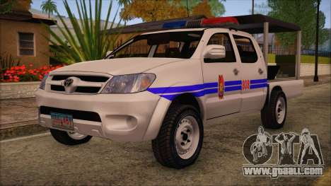 Toyota HiLux Philippine Police Car 2010 for GTA San Andreas