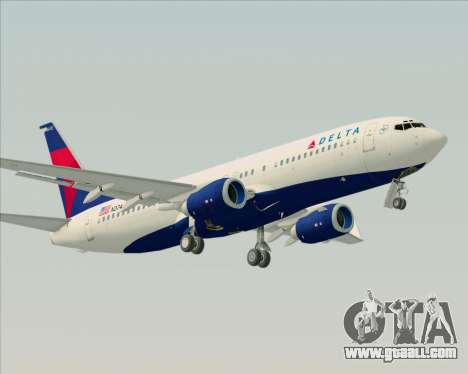 Boeing 737-800 Delta Airlines for GTA San Andreas right view