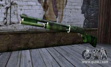 Chromegun v2 Military coloring for GTA San Andreas