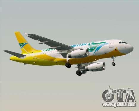 Airbus A319-100 Cebu Pacific Air for GTA San Andreas upper view