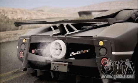 Pagani Zonda 760RS for GTA San Andreas right view