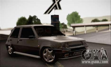Renault 5 for GTA San Andreas