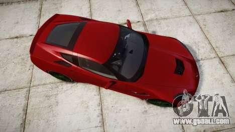 Chevrolet Corvette C7 Stingray 2014 v2.0 TireBr2 for GTA 4 right view