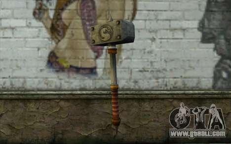Shao Kahn Hammer From Mortal Kombat 9 for GTA San Andreas
