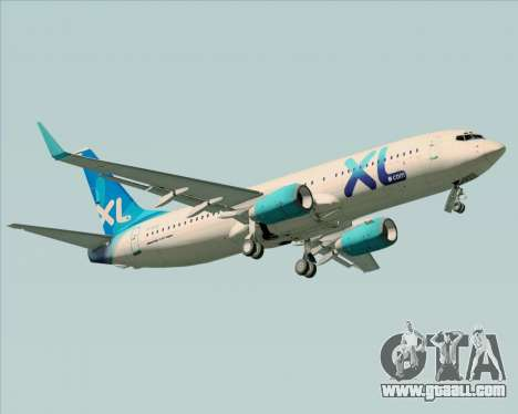 Boeing 737-800 XL Airways for GTA San Andreas side view