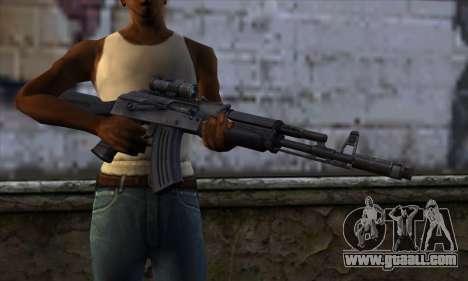 AK-103 Ravaged for GTA San Andreas third screenshot