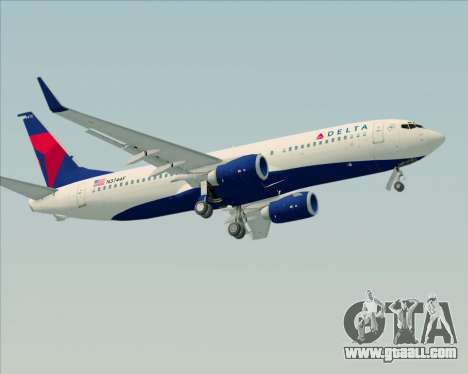 Boeing 737-800 Delta Airlines for GTA San Andreas engine