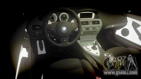 BMW M6 Vossen VVS CV3 for GTA 4 inner view