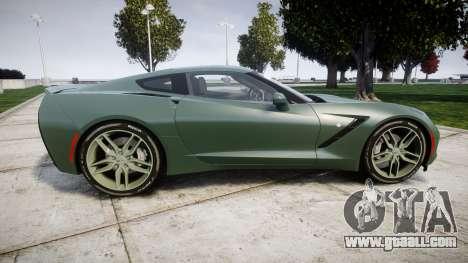 Chevrolet Corvette C7 Stingray 2014 v2.0 TirePi2 for GTA 4 left view
