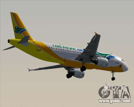 Airbus A320-200 Cebu Pacific Air for GTA San Andreas bottom view