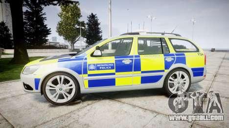 Skoda Octavia vRS Comb Metropolitan Police [ELS] for GTA 4 left view