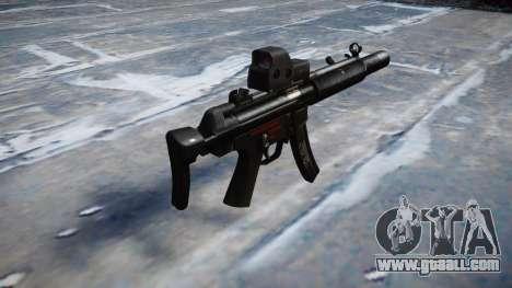 Gun MP5SD EOTHS CS b target for GTA 4 second screenshot